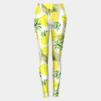 Thumbnail image of Pineapple Watercolor Fresh Summer Fruit Leggings, Live Heroes