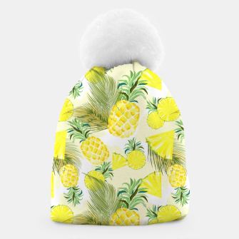 Pineapple Watercolor Fresh Summer Fruit Beanie thumbnail image