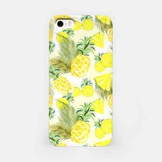 Pineapple Watercolor Fresh Summer Fruit iPhone Case thumbnail image