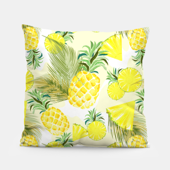 Pineapple Watercolor Fresh Summer Fruit Pillow thumbnail image