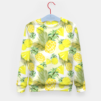 Pineapple Watercolor Fresh Summer Fruit Kid's sweater thumbnail image