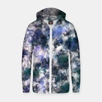 Thumbnail image of The silent blue decay Zip up hoodie, Live Heroes