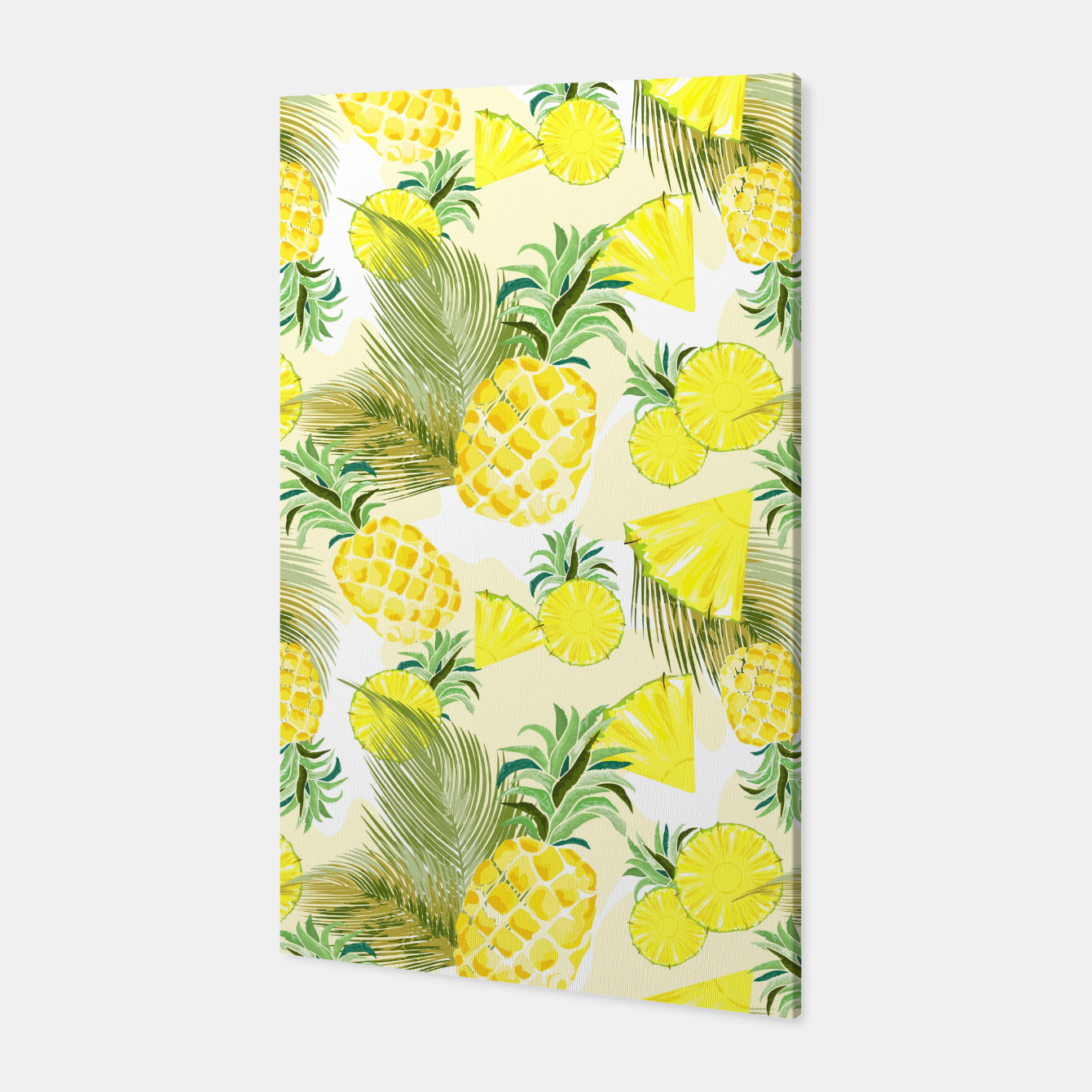 Image of Pineapple Watercolor Fresh Summer Fruit Canvas - Live Heroes