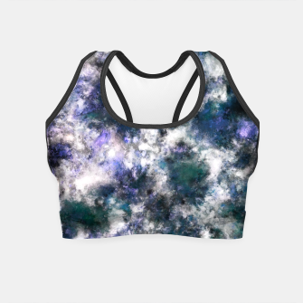Thumbnail image of The silent blue decay Crop Top, Live Heroes