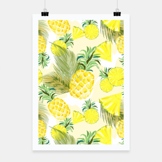 Thumbnail image of Pineapple Watercolor Fresh Summer Fruit Poster, Live Heroes