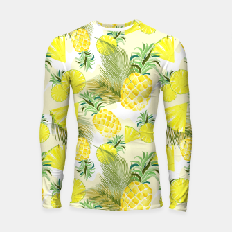 Thumbnail image of Pineapple Watercolor Fresh Summer Fruit Longsleeve rashguard , Live Heroes