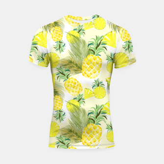 Thumbnail image of Pineapple Watercolor Fresh Summer Fruit Shortsleeve rashguard, Live Heroes