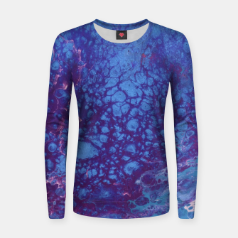 Thumbnail image of Smaller Reality - Teal, Pink, Purple Abstract Women sweater, Live Heroes