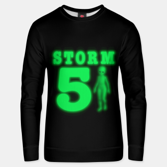 Storm Area 51 Bright Green Alien  Unisex sweater imagen en miniatura
