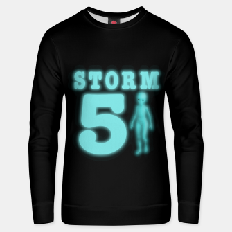 Storm Area 51 Bright Aqua Blue Alien Unisex sweater thumbnail image