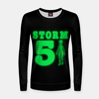 Thumbnail image of Storm Area 51 Bright Green Alien  Women sweater, Live Heroes
