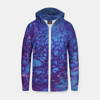 Thumbnail image of Smaller Reality - Teal, Pink, Purple Abstract Zip up hoodie, Live Heroes