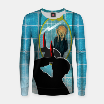 Miniaturka PSICOSIS with THE SCREAM Sudadera para mujeres, Live Heroes