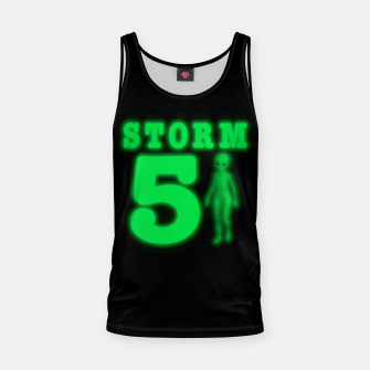 Miniatur Storm Area 51 Bright Green Alien  Tank Top, Live Heroes