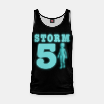 Thumbnail image of Storm Area 51 Bright Aqua Blue Alien Tank Top, Live Heroes