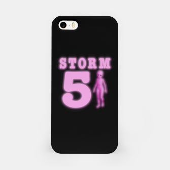 Storm Area 51 Bright Hot Pink Alien iPhone Case imagen en miniatura