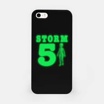 Storm Area 51 Bright Green Alien  iPhone Case imagen en miniatura