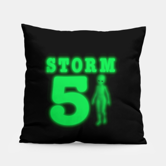 Storm Area 51 Bright Green Alien  Pillow imagen en miniatura