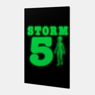 Storm Area 51 Bright Green Alien  Canvas imagen en miniatura
