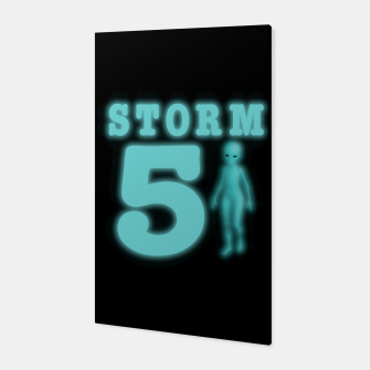 Storm Area 51 Bright Aqua Blue Alien Canvas imagen en miniatura