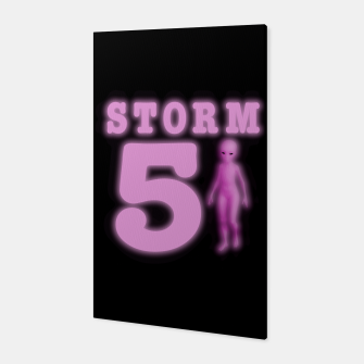 Storm Area 51 Bright Hot Pink Alien Canvas imagen en miniatura