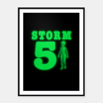 Storm Area 51 Bright Green Alien  Framed poster thumbnail image
