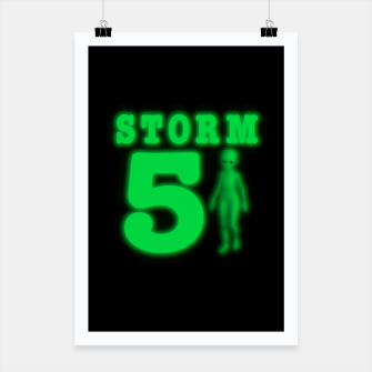 Thumbnail image of Storm Area 51 Bright Green Alien  Poster, Live Heroes