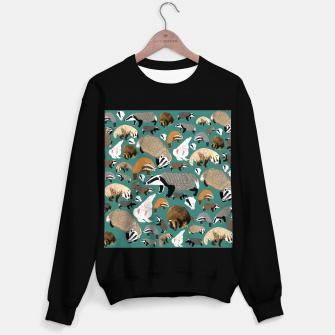 Imagen en miniatura de Badgers pattern in teal Sudadera regular, Live Heroes