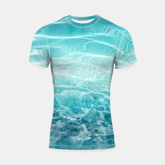 Thumbnail image of Blue Ocean Dream #1 #water #decor #art  Shortsleeve rashguard, Live Heroes