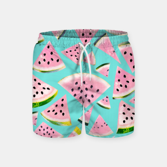 Thumbnail image of Watermelon Twist Vibes #2 #tropical #fruit #decor #art  Badeshorts, Live Heroes