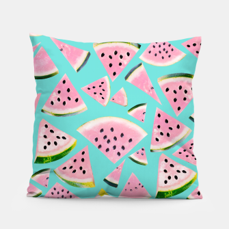 Thumbnail image of Watermelon Twist Vibes #2 #tropical #fruit #decor #art  Kissen, Live Heroes