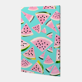 Thumbnail image of Watermelon Twist Vibes #2 #tropical #fruit #decor #art  Canvas, Live Heroes