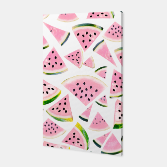 Thumbnail image of Watermelon Twist Vibes #3 #tropical #fruit #decor #art Canvas, Live Heroes