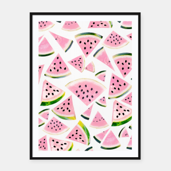 Thumbnail image of Watermelon Twist Vibes #3 #tropical #fruit #decor #art Plakat mit rahmen, Live Heroes