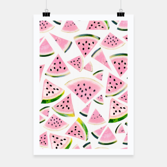 Thumbnail image of Watermelon Twist Vibes #3 #tropical #fruit #decor #art Plakat, Live Heroes
