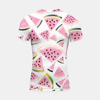 Thumbnail image of Watermelon Twist Vibes #3 #tropical #fruit #decor #art Shortsleeve rashguard, Live Heroes