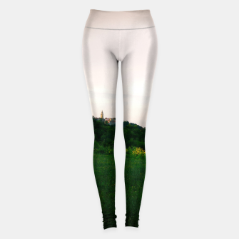 Thumbnail image of landscape near labin croatia summer Leggings, Live Heroes