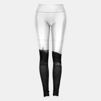 Thumbnail image of landscape near labin croatia bw Leggings, Live Heroes