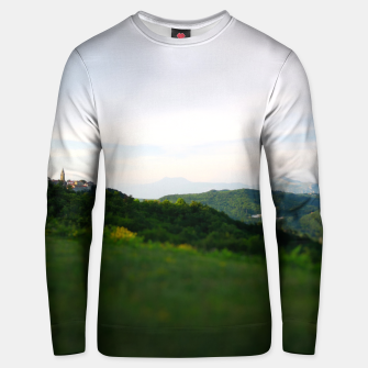 Thumbnail image of landscape near labin croatia toy Unisex sweater, Live Heroes