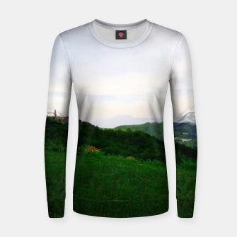 Thumbnail image of landscape near labin croatia std Women sweater, Live Heroes