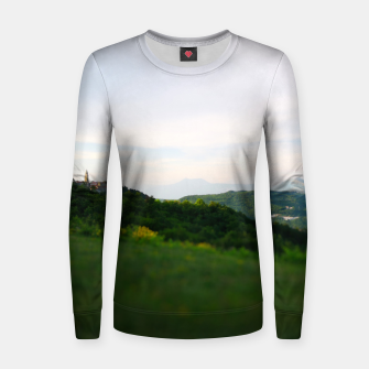 Thumbnail image of landscape near labin croatia toy Women sweater, Live Heroes