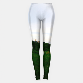 Thumbnail image of landscape near labin croatia std Leggings, Live Heroes