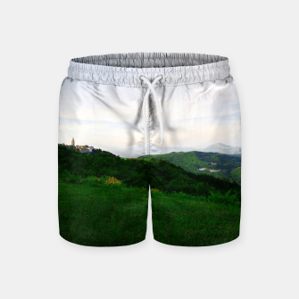Thumbnail image of landscape near labin croatia std Swim Shorts, Live Heroes