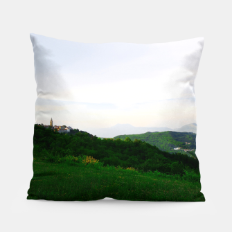 Thumbnail image of landscape near labin croatia std Pillow, Live Heroes