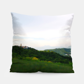 Thumbnail image of landscape near labin croatia toy Pillow, Live Heroes