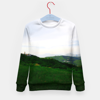 Thumbnail image of landscape near labin croatia std Kid's sweater, Live Heroes