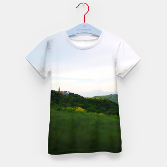 Thumbnail image of landscape near labin croatia toy Kid's t-shirt, Live Heroes