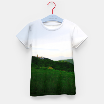 Thumbnail image of landscape near labin croatia std Kid's t-shirt, Live Heroes