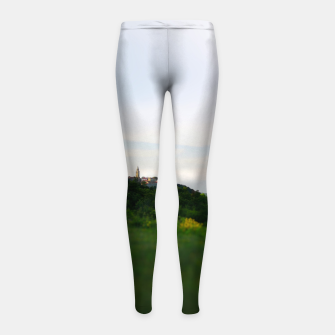 Thumbnail image of landscape near labin croatia toy Girl's leggings, Live Heroes