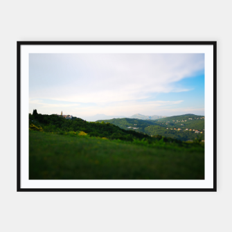 Thumbnail image of landscape near labin croatia toy Framed poster, Live Heroes